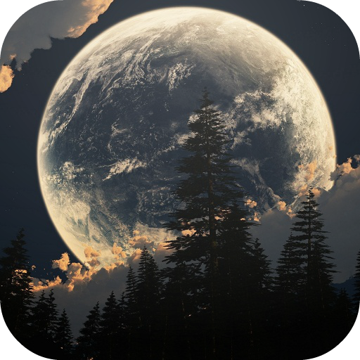 Earth and Moon Live Wallpaper
