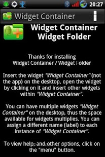 Widget Container- screenshot thumbnail