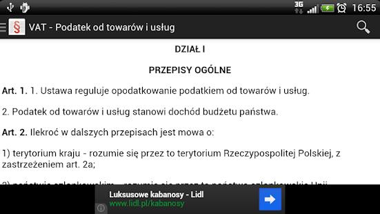 Polskie Ustawy (Kodeksy) Free - náhled