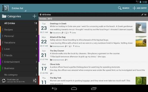 [Diaro - personal diary] Screenshot 2
