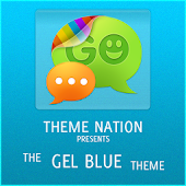 GOSMSTHEME Gel Blue Theme