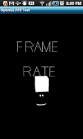Screenshot of OpenGL Frame Rate Test