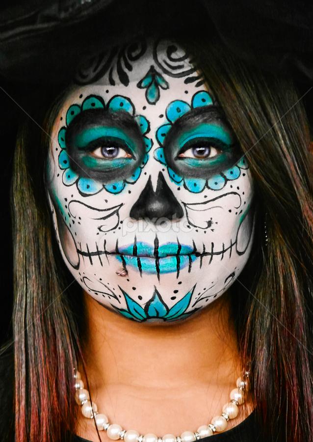 Blue Catrina Body Art Tattoos People Pixoto