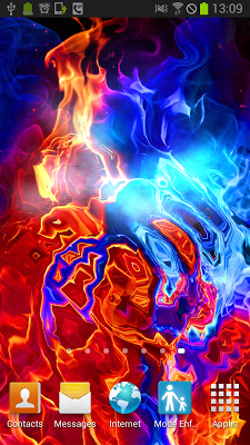 Ice Make Love with Fire LWP - screenshot