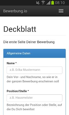 Bewerbung und Lebenslauf – Kostenlos als PDF - screenshot