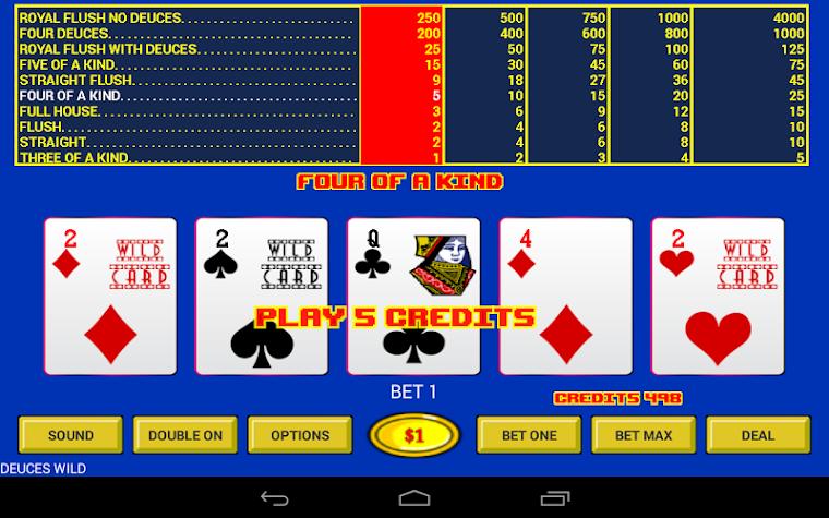Deuces Wild - Video Poker Screenshot