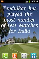 Screenshot of Sachin Facts Live Wallpaper