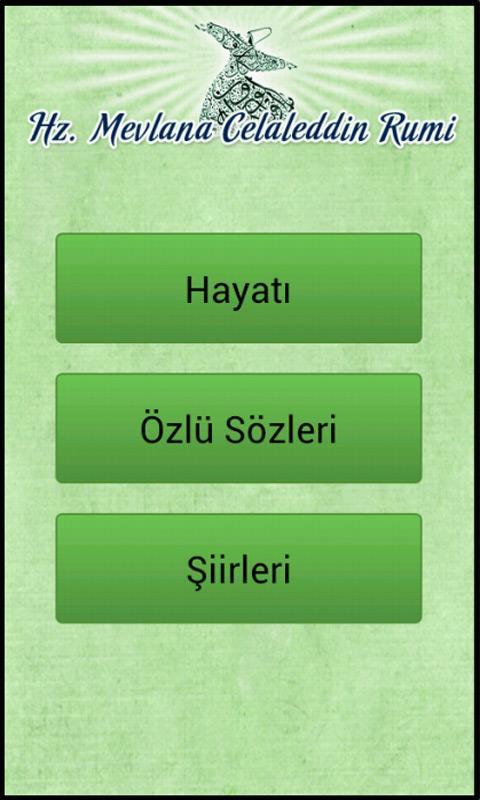 Hz. Mevlana Şiirleri - screenshot