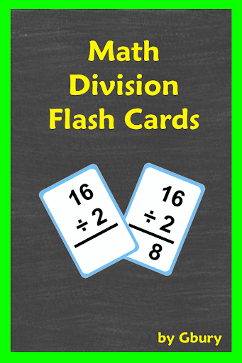 Math Division Flash Cards