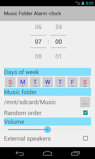 Music Folder Alarm Clock