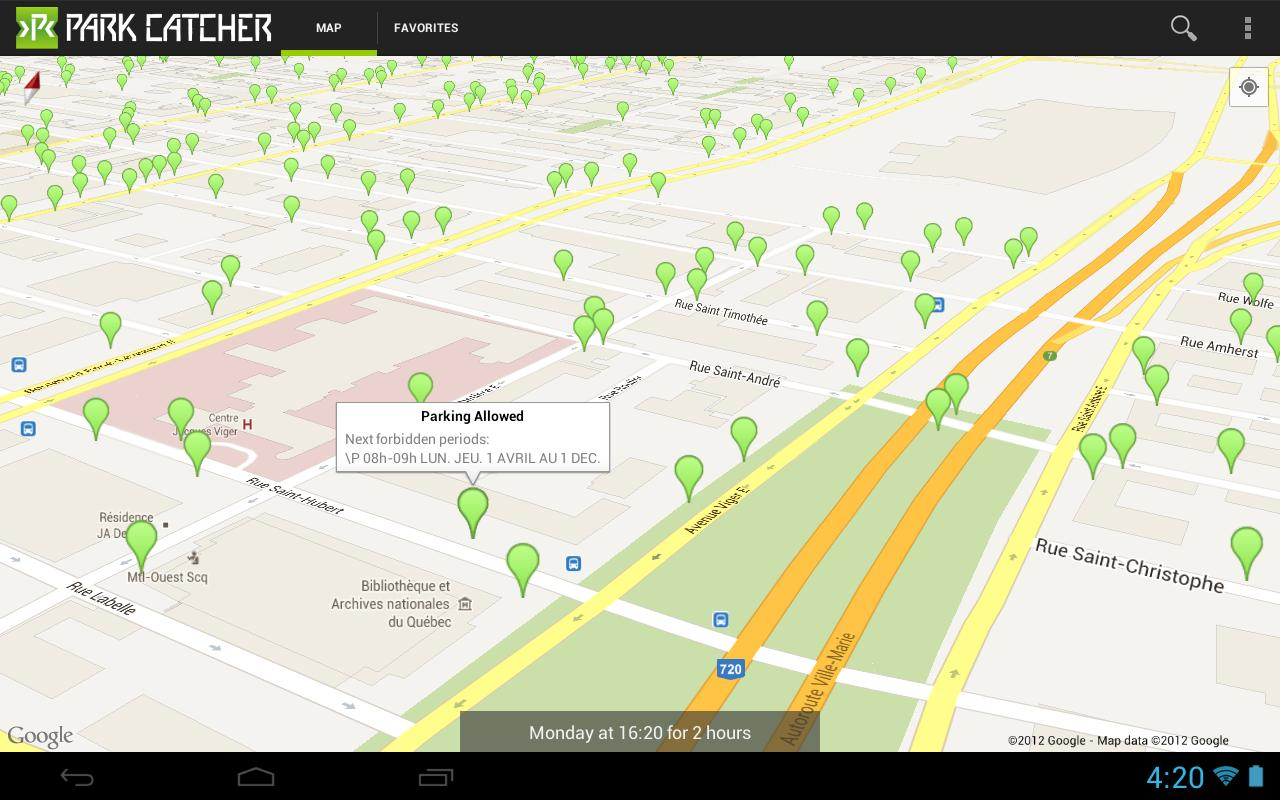 Park Catcher Montréal - screenshot