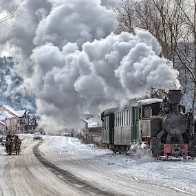 Sled, steam train, car  by Pascal Hubert - Transportation Other (  )