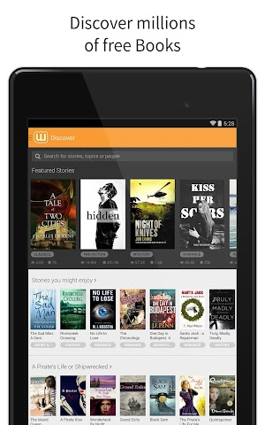 android Wattpad - Free Books & Stories Screenshot 0
