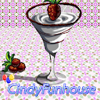 Glass of icecream icon