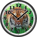 Tiger Analog Clock logo