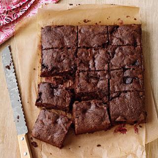 Dark-Chocolate Cherry Brownies.