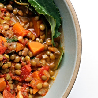 Smoky Lentil Soup With Kale