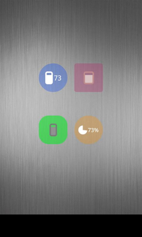 Nice Simple Battery (Widget)- screenshot