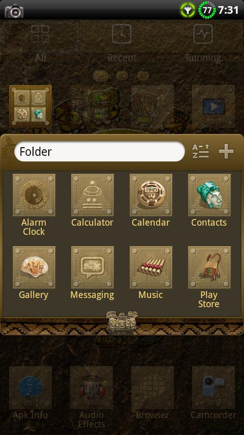 MAYAN GO Launcher EX Theme- screenshot