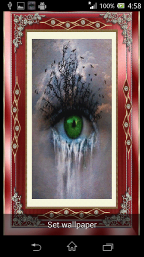 Crying Eye 3D Live Wallpaper