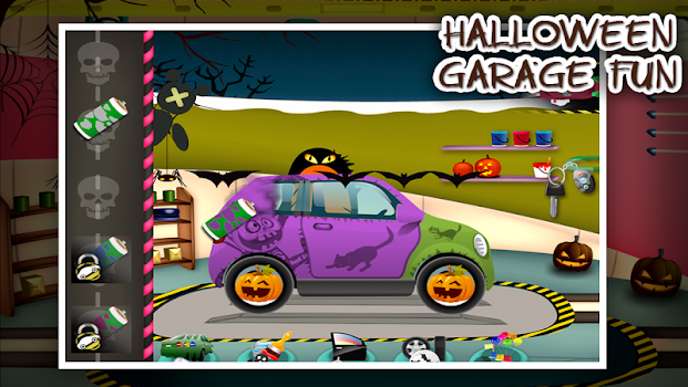 Halloween Car Garage Fun
