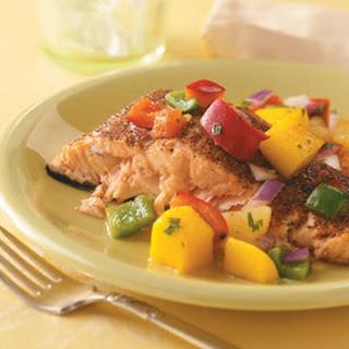 Salmon with Caribbean Salsa.