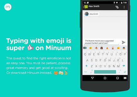 Minuum Keyboard + Smart Emoji Screenshot
