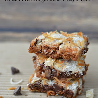 Gluten Free Gingerbread 7 Layer Bars