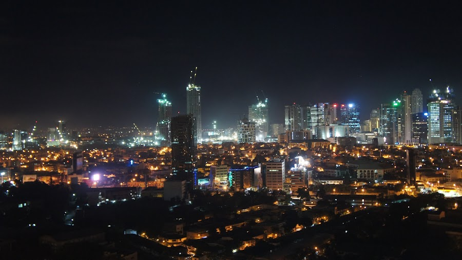 nightlife by Iggy - Buildings & Architecture Office Buildings & Hotels ( philippines, makati, nightlife )