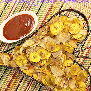 Sweet and Spicy Jicama and Plantain Chips Recipe