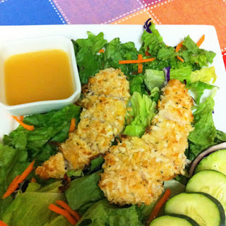 Coconut Chicken & Warm Honey Vinaigrette Salad