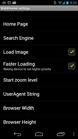WebBrowser for SmartWatch 2 Screenshot