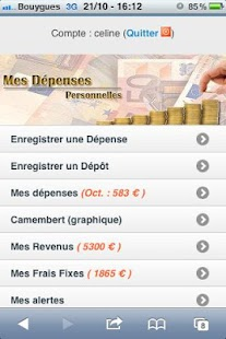 Gestion du Budget & Dépenses - screenshot thumbnail