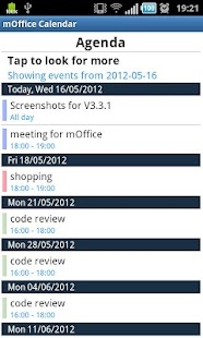 mOffice - calendar/task sync- screenshot thumbnail