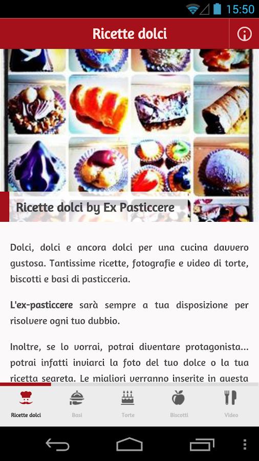 Ricette Dolci - screenshot