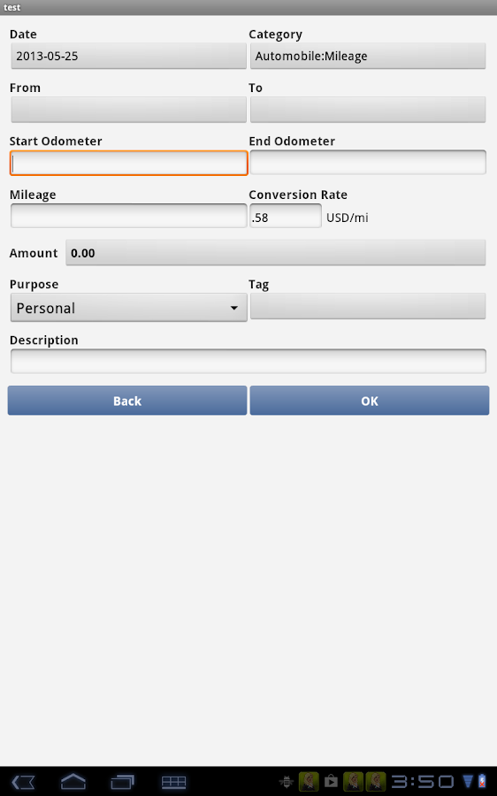 Expense Manager - screenshot