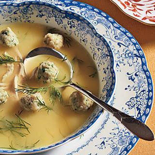 Lemon Chicken Soup with Dumplings.