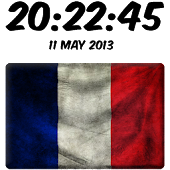 France Digital Clock