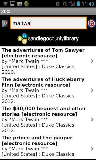 San Diego County Library  screenshots 2