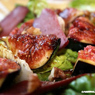 Smoked Duck Breast and Figs Salad.