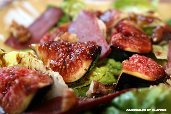 Smoked Duck Breast and Figs Salad