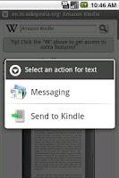 Screenshot of Send to Kindle