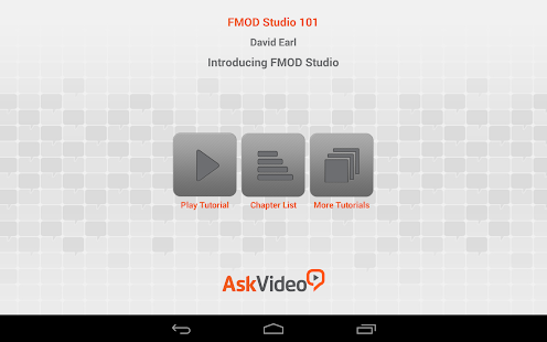 FMOD Studio Intro Course – Apps on Google Play