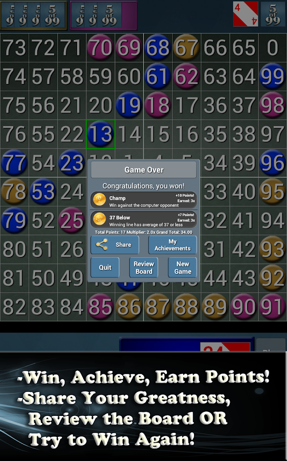 5of99: 5 in a Row Brain Puzzle - screenshot