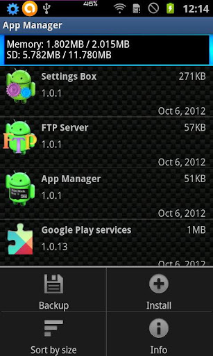 Application Manager App to SD