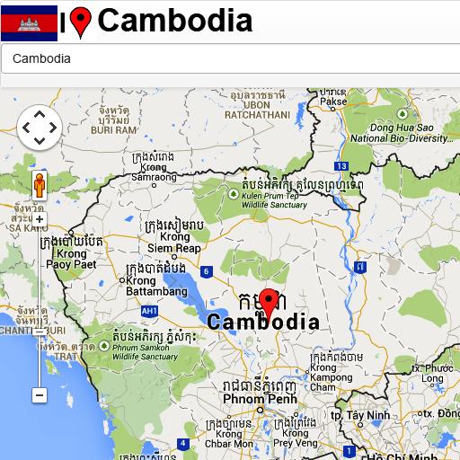 Cambodia mapa