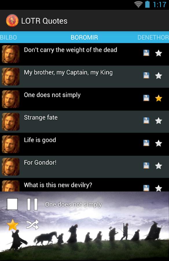 LOTR Quotes - screenshot