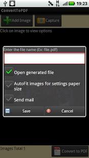 Convert To PDF Lite Version- screenshot thumbnail