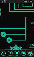 Screenshot of Neon Green Tech GO Theme