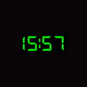 24 Hour Digital Clock Widget